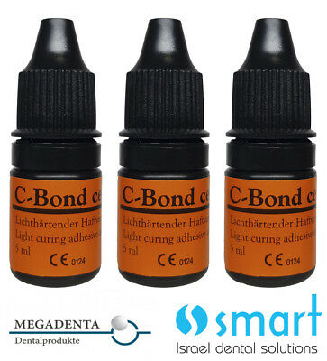 Lot X 3 Dental Bonding C-Bond light curing adhesive MEGADENTA Germany 5 ml