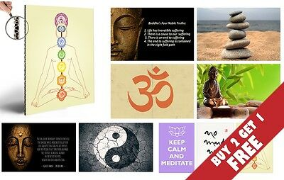 INSPIRATIONAL MOTIVATIONAL A4 POSTERS * Feng Shui Oriental Home Decor / Gifts