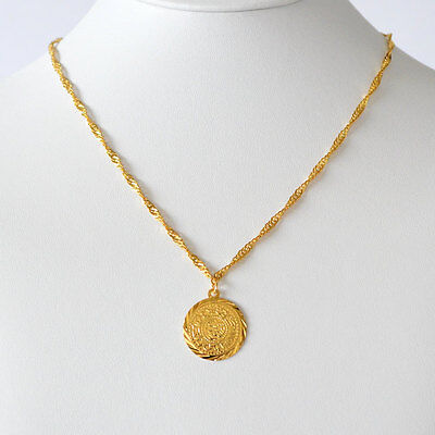 Babylonian Persian Coin Necklace Pendant Men & Women Necklaces 24k Gold Plated