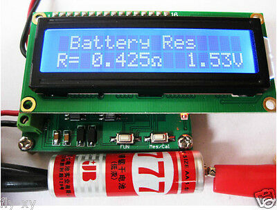 Internal Battery Resistance Impedance Tester Voltmeter+ In-ciruit Cap ESR Meter