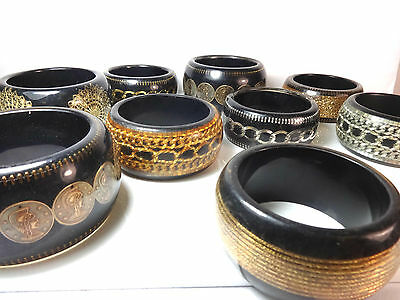 WHOLESALE/JOBLOT 100 LADIES  CHUNKY EGYPTIAN THEME BANGLES NEW some scratches
