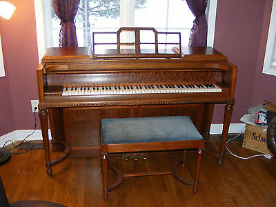 Willis Art Deco Piano With Bench