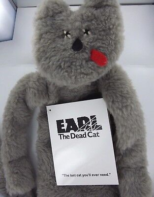 EARL the Dead Cat Plush Toy Zombie Gag Gift  with Death Certificate NWT Mad Dog