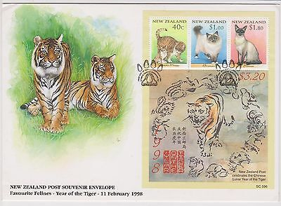 (SS60) 1998 NZ FDC M/S year of the tiger $3.20