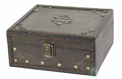 New Vintiquewise Small Pirate Style Treasure Chest, QI003011