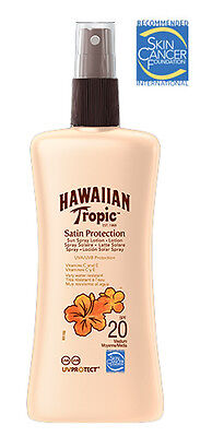 Hawaiian Tropic Satin Protection Sun Spray Lotion SPF 20 200ml