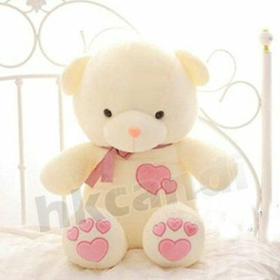 love Plush bowknot  pink heart teddy bear 45cm love GIFT soft toys for gril lady