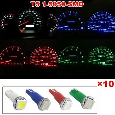 40x T5 Red/White/Green/Blue 5050 SMD LED Instrument Dashboard Gauge Bulb light
