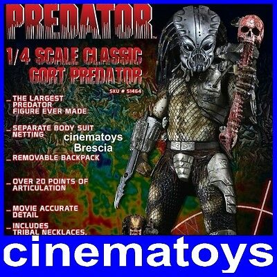 PREDATOR CLASSIC GORT MASK ACTION FIGURE STATUA 50CM SCALA 1:4 NECA LIMITED 5000