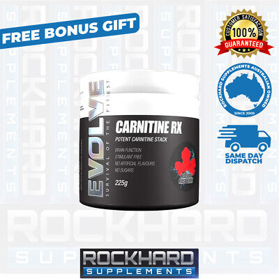 Evolve Nutrition Carnitine RX 60 Serves Carnitine Tartrate Carnitine Fumarate