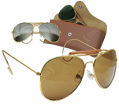 USAF Pilots Vintage Style AVIATOR SUNGLASSES - Colour Option - Top Gun Air Force