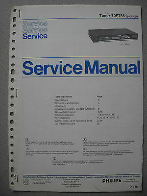 Philips 70 FT561 Tuner Service Manual