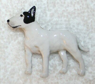 Bull Terrier White Black Hand Painted Pewter Pin Jewelry Art USA Made