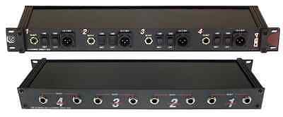 Pro Co DB4A 4 Channel Rack Mount Passive Direct Box DI, Great for keyboards!