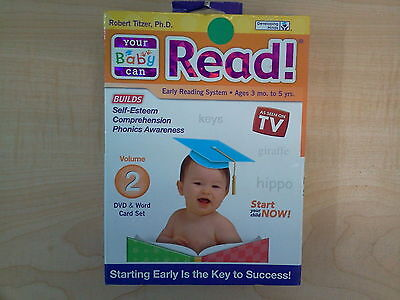 Your Baby Can Read! Volume 2 Early Reading System DVD & Word Card Set
