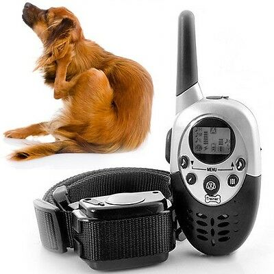 1000M Rechargeable LCD REMOTE TRAINING COLLAR 1000m ELECTRIC LARGE DOG CONTROL