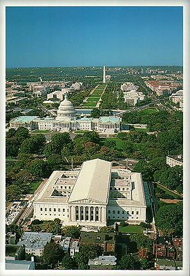 Aerial View of the Supreme Court and National Mall, Washington DC --- Postcard