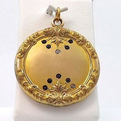 Victorian Wightman Hough Co W&h Co Ornate Gold Filled Photo Locket