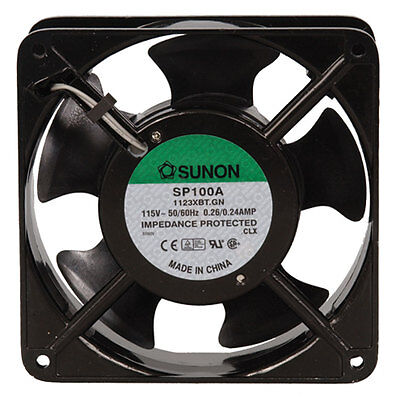 Sunon SP100A-1123XBT.GN AC Fan Ball 115 Volt 60Hz 0.24 Amp 20 Watt 3150 RPM 117