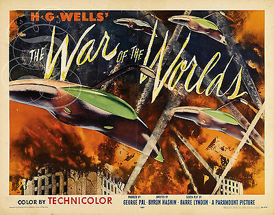 Repro Deco Affiche Cinema The War Of The World 1953 Sur Papier190 Ou 310 Grs