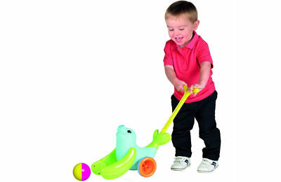 TOMY Play to Learn Push Along Catching ball Walking Animal Toy for Kids Toddler
