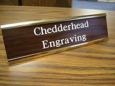 Personalized Custom Engraved Wall / Door / Desk Name Plate W/ Holder 2x8