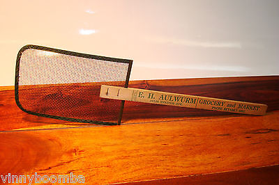Vintage Fly Swatter Advertising E.h. Aulwurm Grocery & Market Chicago Illinois !