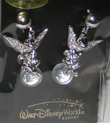 Disney Tinker Bell Tink Fairy✿CLIP Earrings✿Made with Crystals from Swarovski ®
