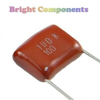 10 x 1uF (105) Polyester Film Capacitor - 400V (max) - 1st CLASS POST