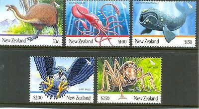New Zealand -Giant Animals set of 5 mnh Birds-Insects -Eagle-Whale