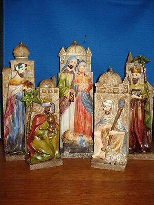 Nativity Blocked with Cityscape Set of 5 resin 44217