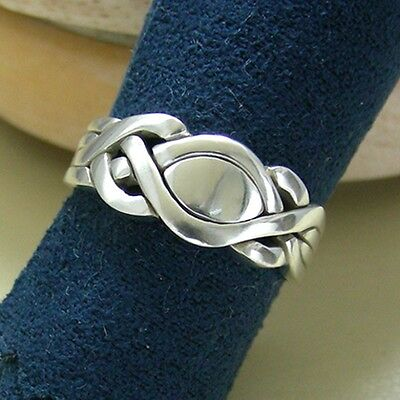 (KARMEN) Unique Puzzle Rings - Sterling Silver - Any Size