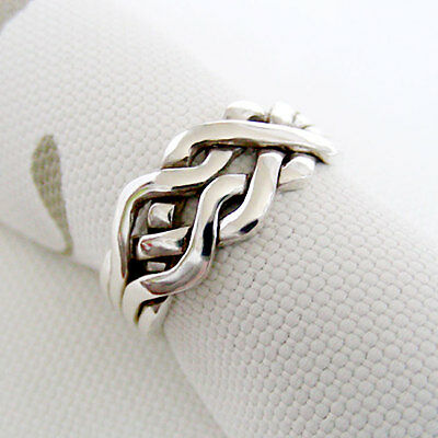 (CELTIC) Unique Puzzle Rings - Sterling Silver - Any Size