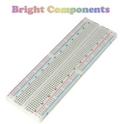 Solderless Prototype Breadboard (830 Points) - Electronics - 1st CLASS POST