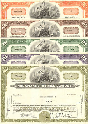 Atlantic Refining Company   Standard Oil   lot of 5 stock certificates share