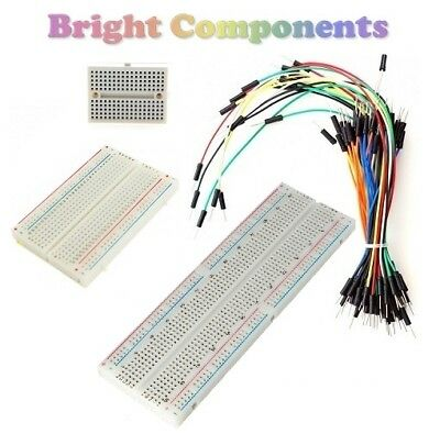 Solderless Prototype Breadboard (Various Sizes) + Optional 65x Jumper Wires