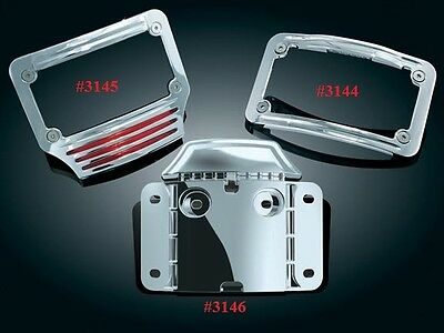 Kuryakyn Curved Lighted L.E.D. License Plate Frame for Touring CVO '09-'17