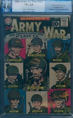 Our Army At War 112 PGX 4.0 Sgt Rock CLASSIC ROSTER COVER CGC EASY CO. Roll Call