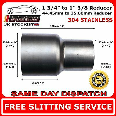 44.45mm to 35mm Stainless Steel Standard Exhaust Reducer Connector Pipe Tube