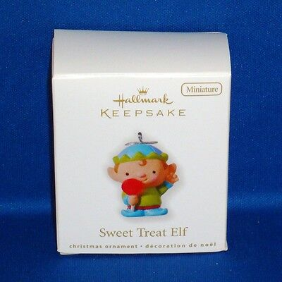 Hallmark - 2010 - Sweet Treat Elf - Miniature Keepsake Christmas Ornament - NEW