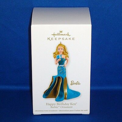 Hallmark - 2011 - Happy Birthday Ken - Barbie - Keepsake Christmas Ornament NEW