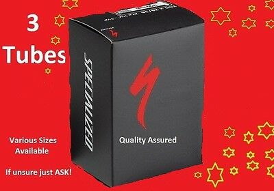 Bike Inner Tube x3 | Specialized | Various Sizes | FREE P+P | Highest Quality !