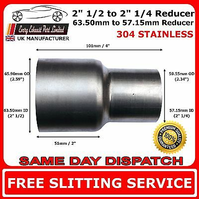 """2.5"""" to 2.25"""" Stainless Steel Flared Exhaust Reducer Connector Pipe Tube"""