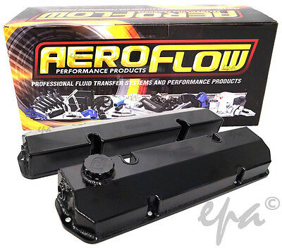 Aeroflow Holden 253 308 V8 Fabricated Alloy Valve Rocker Covers Af77-5004Blk