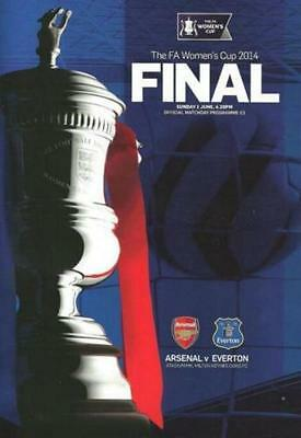 * 2014 WOMENS FA CUP FINAL - ARSENAL v EVERTON (1st June 2014 at MK Dons) *