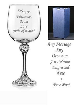Personalised Wine Glass Engraved Retirement Gift Leaving Gift Wedding Gift boxed