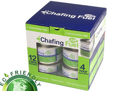 PACK OF 12 CHAFING DISH FUEL GEL CANS is Approx  3.5 HOUR BURNING TIME EACH