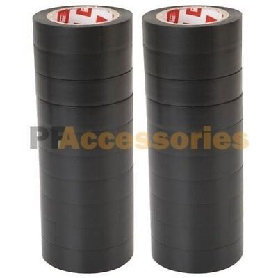 """20 Rolls 50 FT Purpose 0.7"""" Inch Vinyl PVC Black Insulated Electrical Tape LOT"""