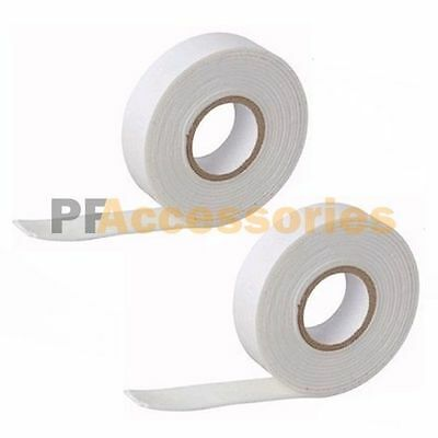 """2 Pcs 5' x 3/4"""" Double-Sided Faced Foam Tape White Wholesale LOT of 2 Pack"""