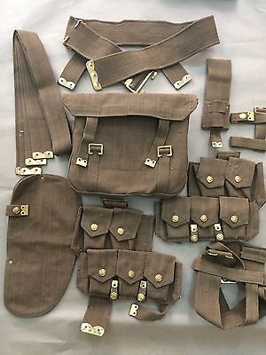 Wwi British P08 Web Set (10 Pcs) - Reproduction